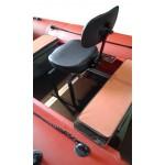 Кресло поворотное + опора (кожзам)