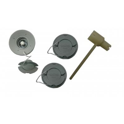 Ремкомплект для замены клапанов Браво 2000 (3 клапана + ключ)
