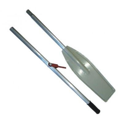 Весло катерное, лопасть алюминиевая с уключинами