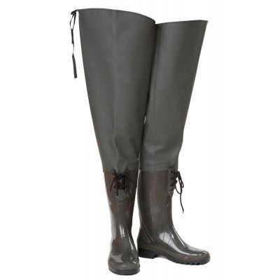 С 055-1 сапоги болотные женские со шнуровкой НАЗИЯ