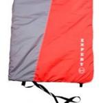 Спальный мешок с капюшоном ALASKA серый/терракотовый до 0 С
