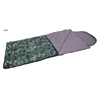 Спальный мешок одеяло ALASKA кмф, лес до 0 С, ткань таффета